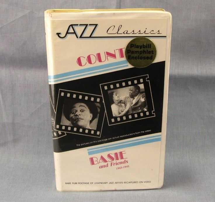 Count Basie and Friends 1943-1945 VHS Jazz Video 1940's Music Delta Rhythm Boys