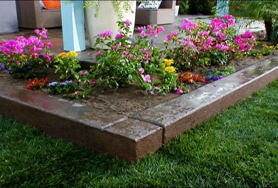 17 best images about raised beds on pinterest cinder for Concrete raised garden bed designs