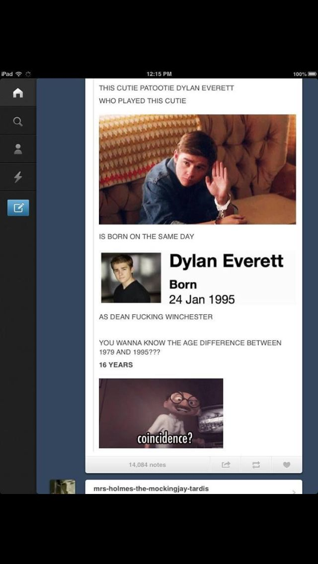 Dylan Everett-teenage Dean