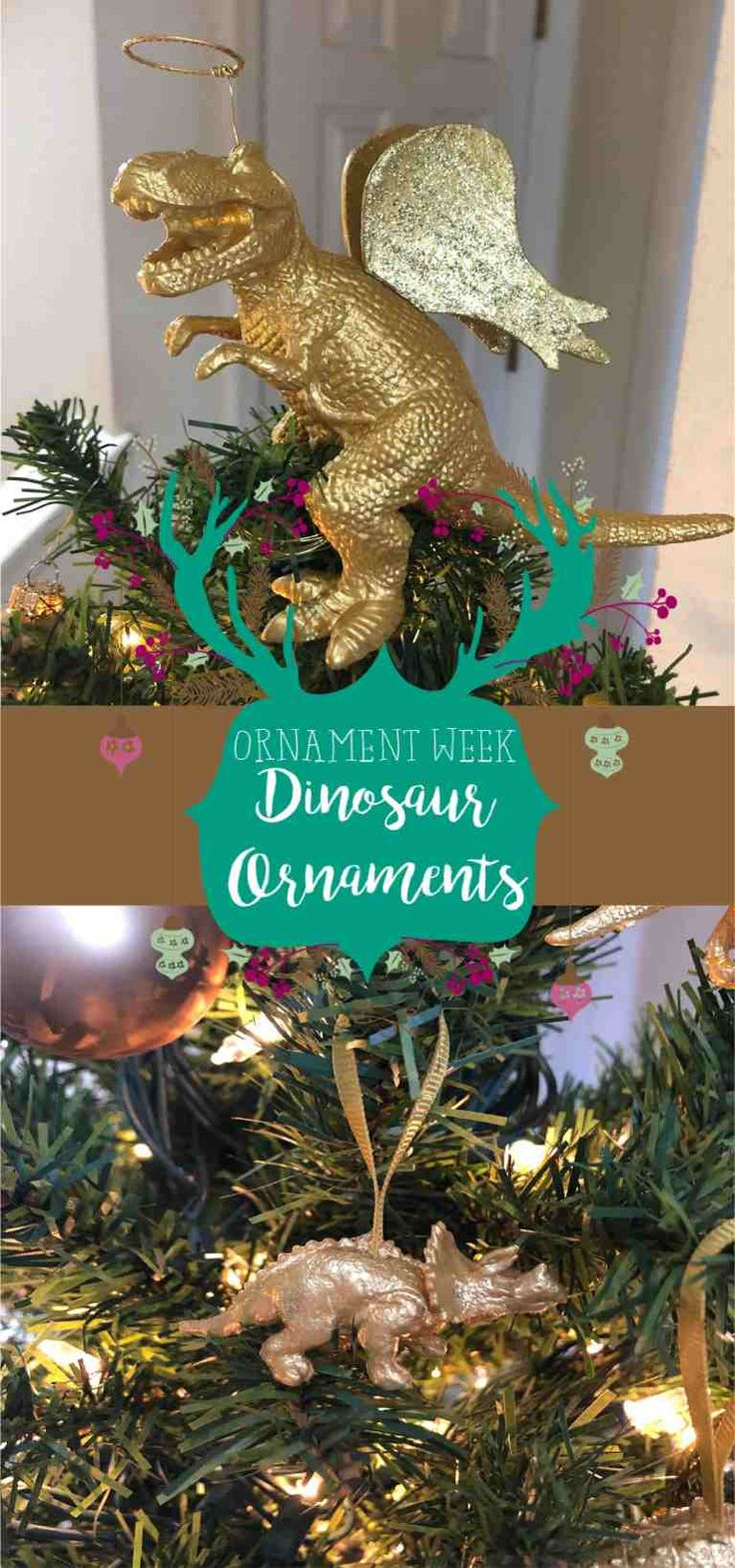 Ornament Week DIY Dinosaur Ornaments in 2020 Dinosaur