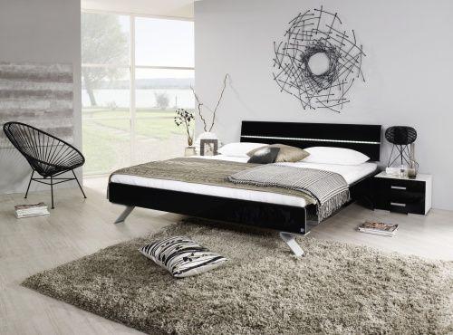 Rauch Select Mavi Plus Doppelbett schwarz Hochglanz mit LED-Beleuchtung - Möbel Mit www.moebelmit.de
