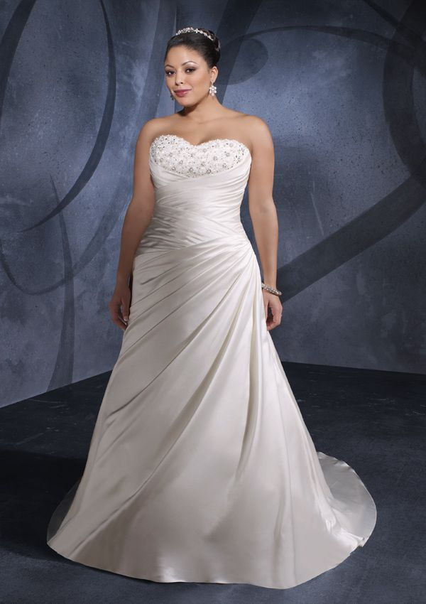 This Particular Style Slims The Waist And Stomach Area To Make You Look Amazingly Slimmer Dress Plus Sizessatin Wedding