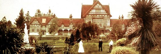 The Bath House, in the Government Gardens, Rotorua, New Zealand. The building is now a museum.
