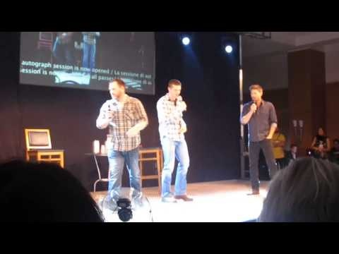 JIB2013--Ty trying to make Jensen laugh!! :D