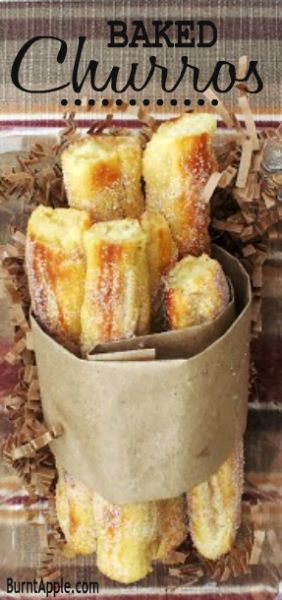 I wonder if this will work. I'm going to try it.baked churros