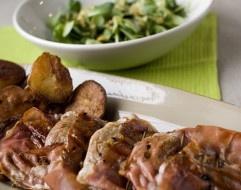 Fru Timian: Saftig skinkebiff med spekeskinke og veldig gode poteter
