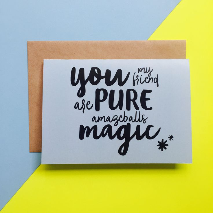 Amazeballs Magic Greeting Card by CookieandCash on Etsy