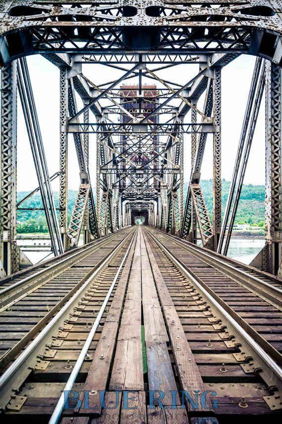 Over the Willamette Portland Railroad Bridge Photo by kensimms, $25.00