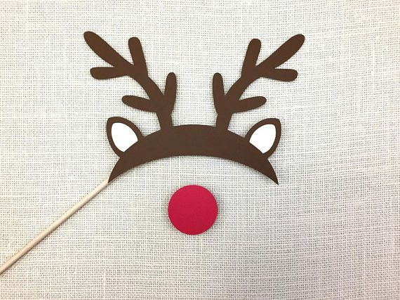 Reindeer Antlers and Rudolph Nose Props. #ReindeerProps #Reindeer #RudolphNose