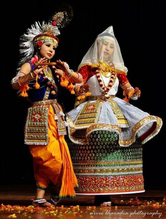 Classic dance form of Manipur , a North eastern state of India.