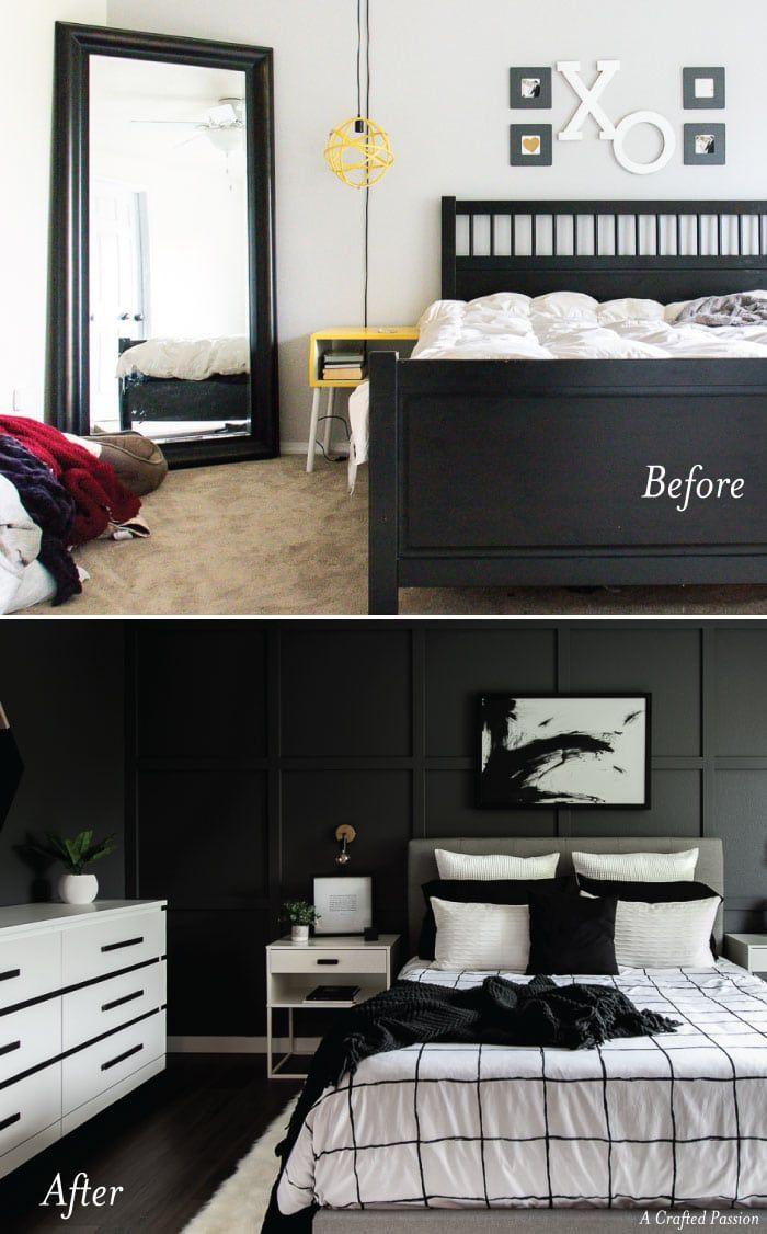 A Monochrome Modern Bedroom Reveal Denise Decor Bedroom Decor
