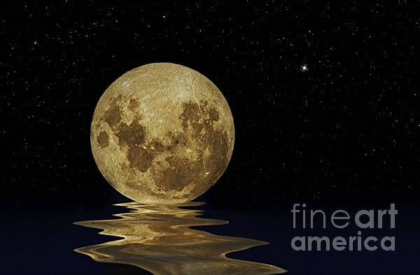 #MOLTEN #MOON #Space #Stars #Art #Photography Quality Prints and Cards at:  http://kaye-menner.artistwebsites.com/featured/molten-moon-kaye-menner.html  -