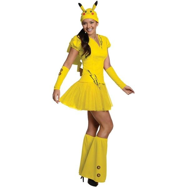 Pokemon Pikachu Adult Costume (64 NZD) ❤ liked on Polyvore featuring costumes, halloween costumes, sexy costumes, sexy adult costumes, adult pikachu costume, adult mouse costume and pikachu costume