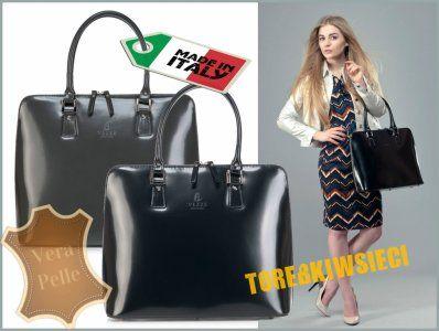 Wloska Elegancka Skorzana Torebka Vezze Pasek 6226145300 Oficjalne Archiwum Allegro Fashion Hermes Birkin Top Handle Bag