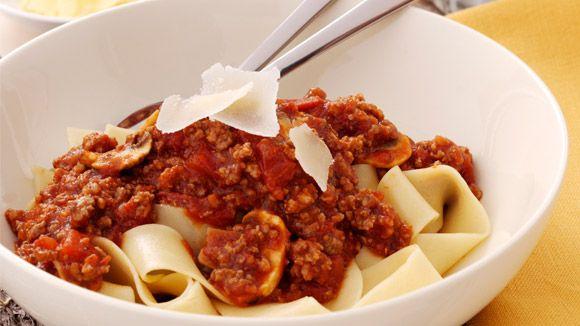 Spaghetti+Bolognaise+with+Mushroom