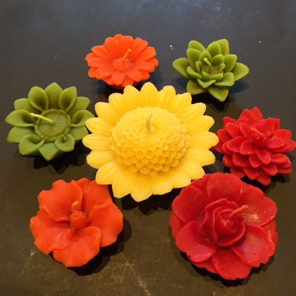 Beeswax flower candle collection- natural in every way