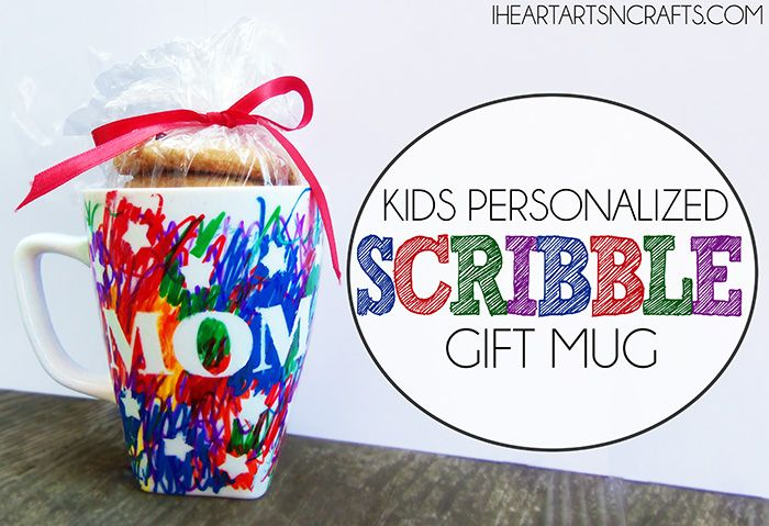 Kids Personalized Scribble Gift Mug , the perfect homemade gift for kids to make for the holidays!