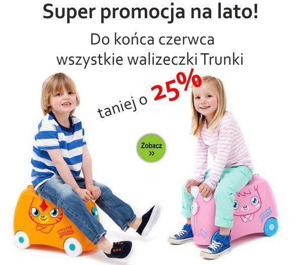 Mega promocja na walizki trunki -25% taniej tylko do końca czerwca.. Zapraszamy na www.e-zabawkowo.pl
