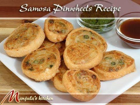 Samosa Pinwheels - Manjula's Kitchen - Indian Vegetarian Recipes