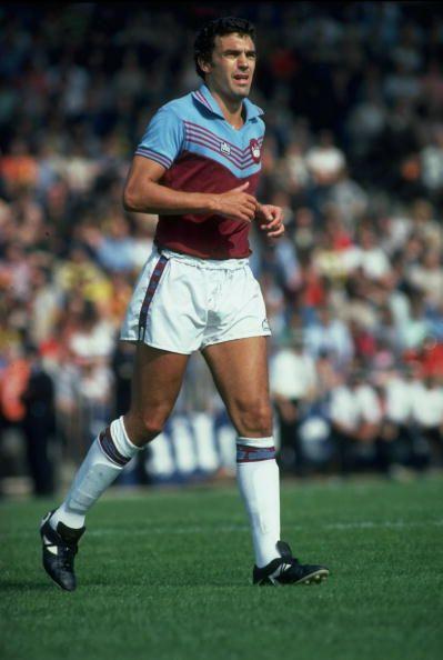 Trevor Brooking - West Ham United, Blue Star, Cork City, England.