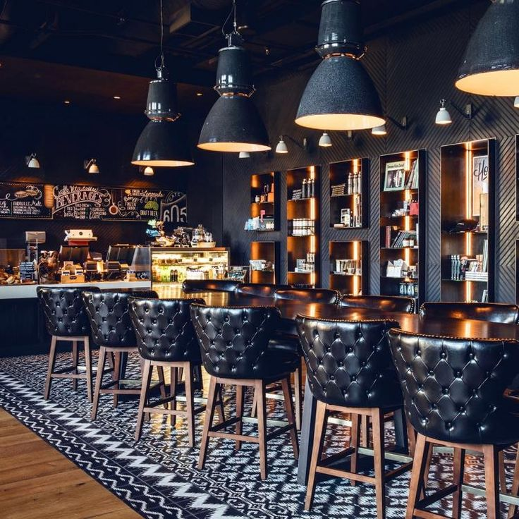 Hotel Van Zandt, Texas - Our vintage Giant Czech pendant lights look spectacular in the bar at the new Hotel Van Zandt in Austin Texas.