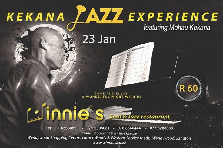 Join us on the 23 of Jan, winnies gives you Kekana Jazz Expirience