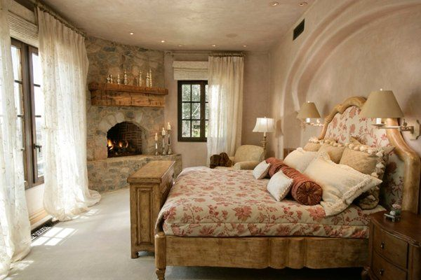Warm Cozy Master Bedroom With Fireplace