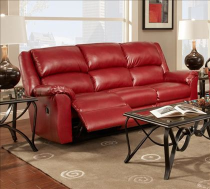 Modern Sofa Chelsea Home Arundel Reclining Sofa in Sierra Red Leather Reclining Furniture Pinterest Arundel F C Reclining sofa and Living rooms