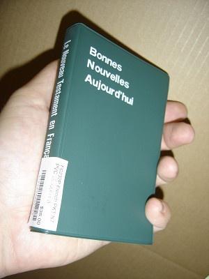 French Pocket New Testament / Bonnes Nouvelles Aujour d'hui / LE NOUVEAU TESTAMENT - Green PVC cover / n t fc miniature vert