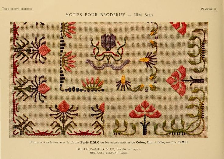 Motifs pour broderies. (IIIme série) No. 8