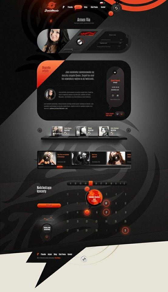 Fenix Music | #webdesign #it #web #design #layout #userinterface #website #webdesign < repinned by www.BlickeDeeler.de | Take a look at www.WebsiteDesign-Hamburg.de
