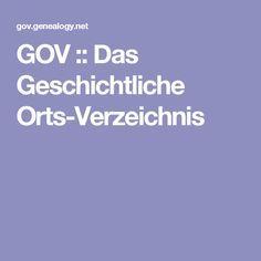 GOV :: Das Geschichtliche Orts-Verzeichnis