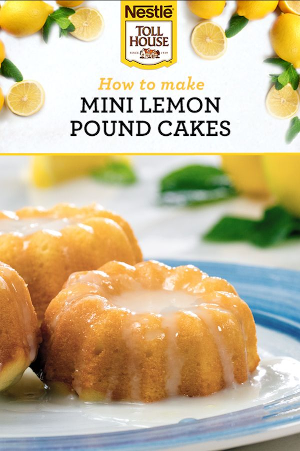 Mini Lemon Pound Cakes are bursting with bright lemony flavor! These are the perfect springtime picnic treat. This zesty recipe combines Premier White Chips with flavors like vanilla, to bake a delicious dessert.