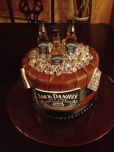 Gateau d'anniversaire jack daniels