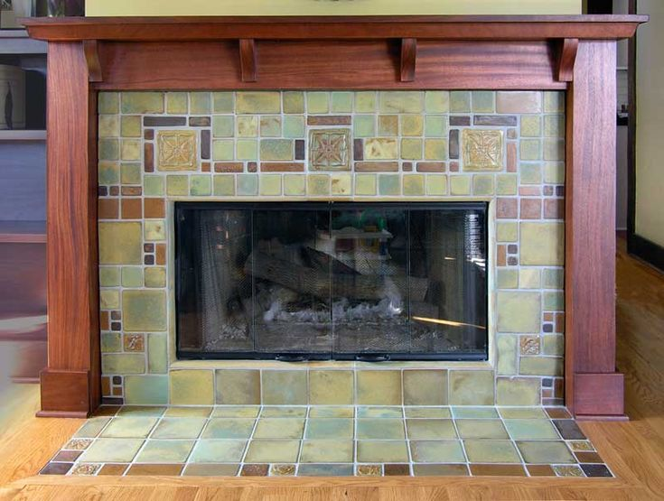 a geometric fireplace by pasadena craftsman tile