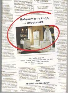 babykamer te koop - ongebruikt