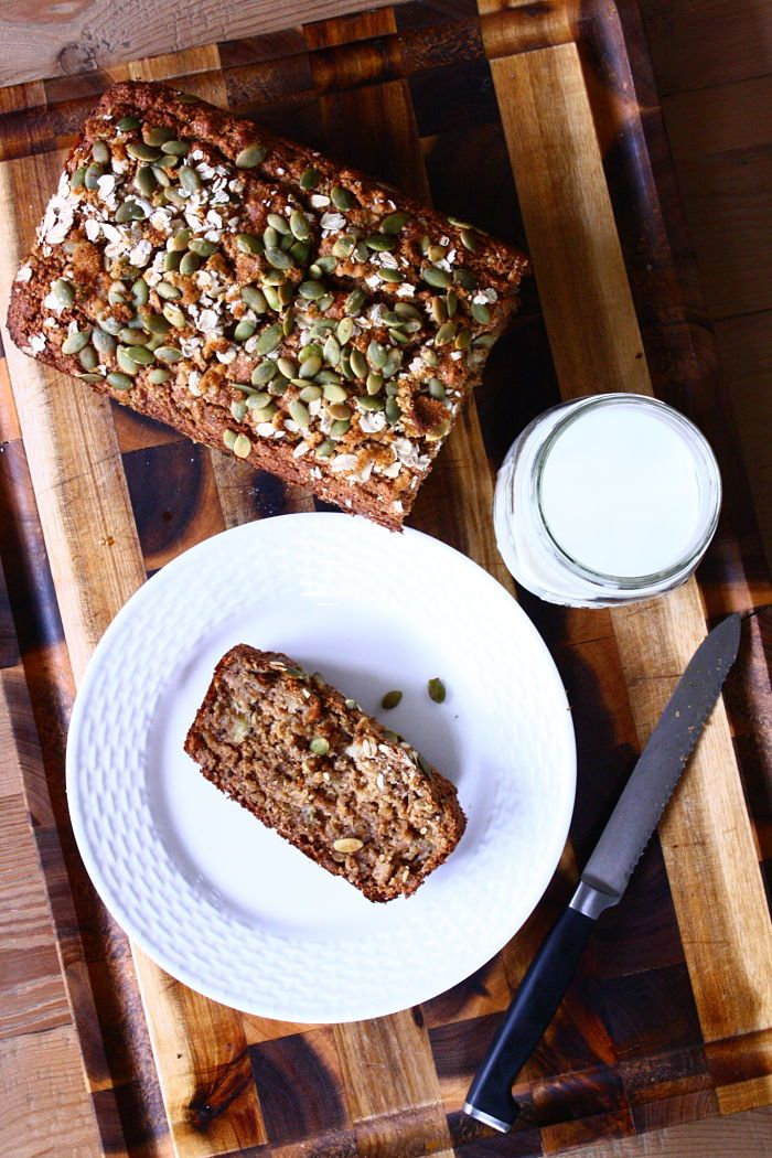 Oatmeal Applesauce Banana Bread