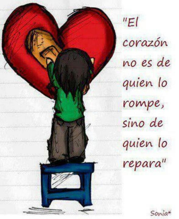 Mi corazon? recibiendo servicio de reparacion....♥...que bueno!