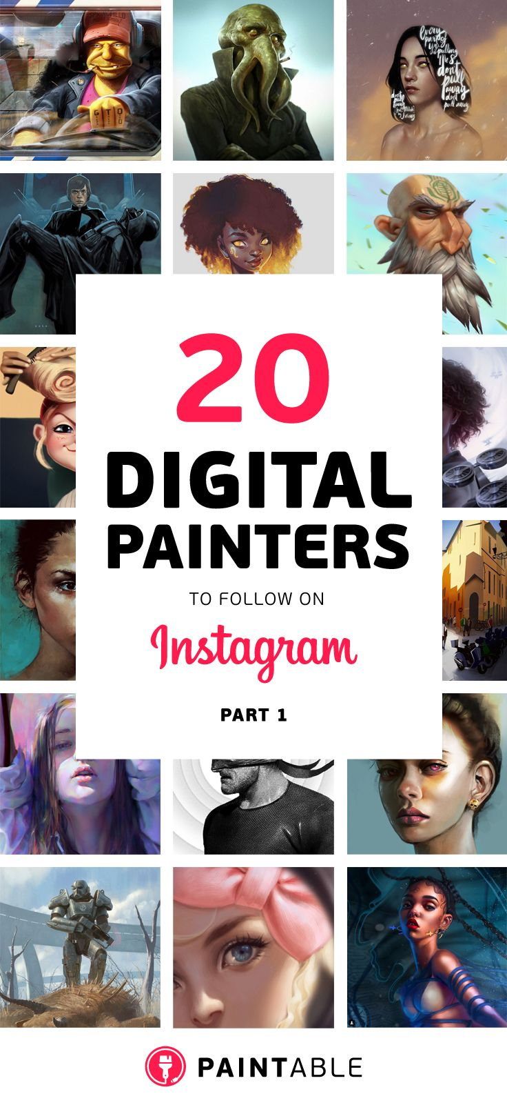 www.paintable.cc | 20 Inspiring Digital Painters to Follow on Instagram (Part 1)