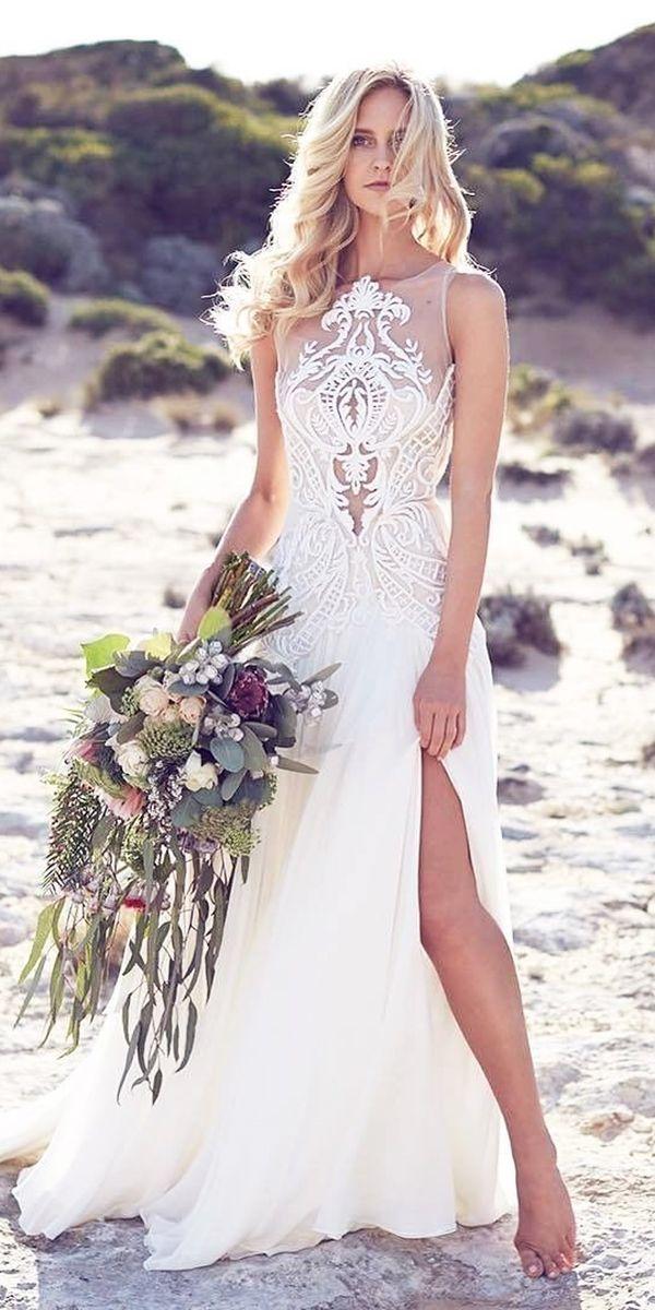 24 Beach Wedding Dresses Perfect For Destination Weddings ❤ See more: http://www.weddingforward.com/beach-wedding-dresses/ #wedding #dresses #beach