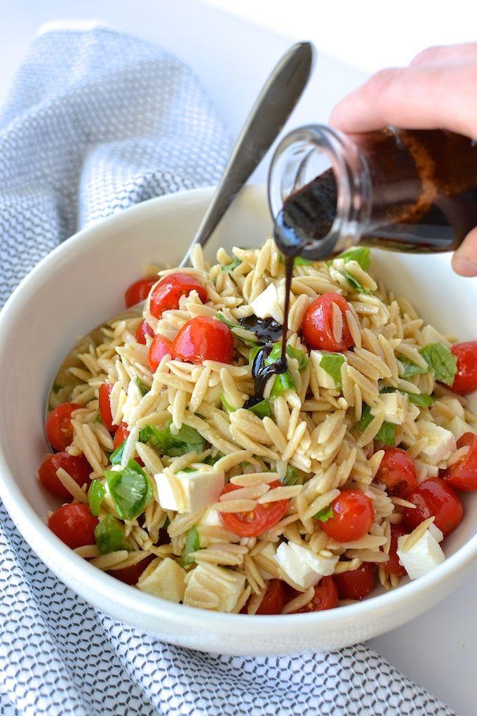 Orzo Salad Recipes Pinterest'te | Orzo, Salata Tarifleri ve Salata ...