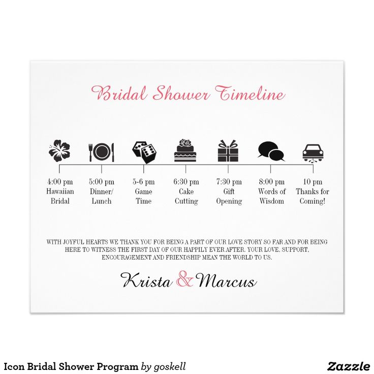 "Icon Bridal Shower Program 4.5"" X 5.6"" Flyer"