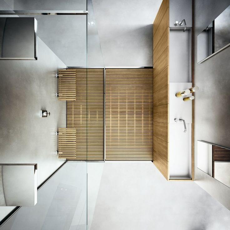 Les 83 meilleures images propos de inspiration salle de for Revetement mural douche italienne