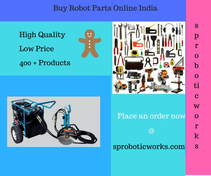 If you need to Buy Robot Parts Online India, You can immediately Place an order @ SP RoboticWorks. The products include Mechanical accessories, wires, motor drivers, batteries and chargers are available.   http://www.sproboticworks.com/ CONTACT NO - 9003019700