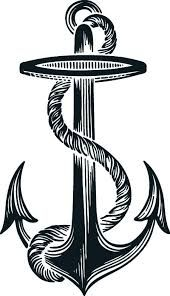 Image result for simple anchor outline tattoo