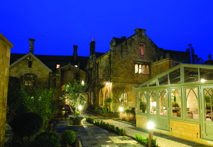The Manor House Hotel at night