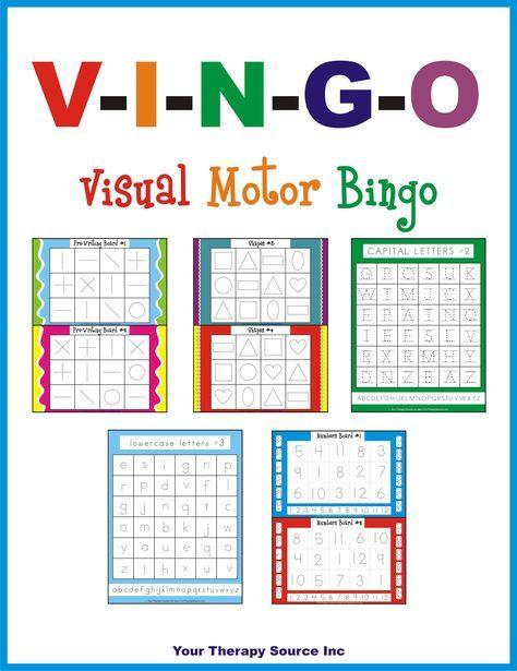V-I-N-G-O Visual Motor Bingo – Trina Edwards