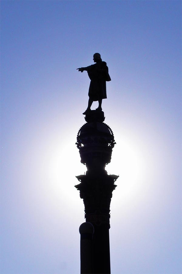 Statue of Cristofero Columbus at the head of Las Ramblas