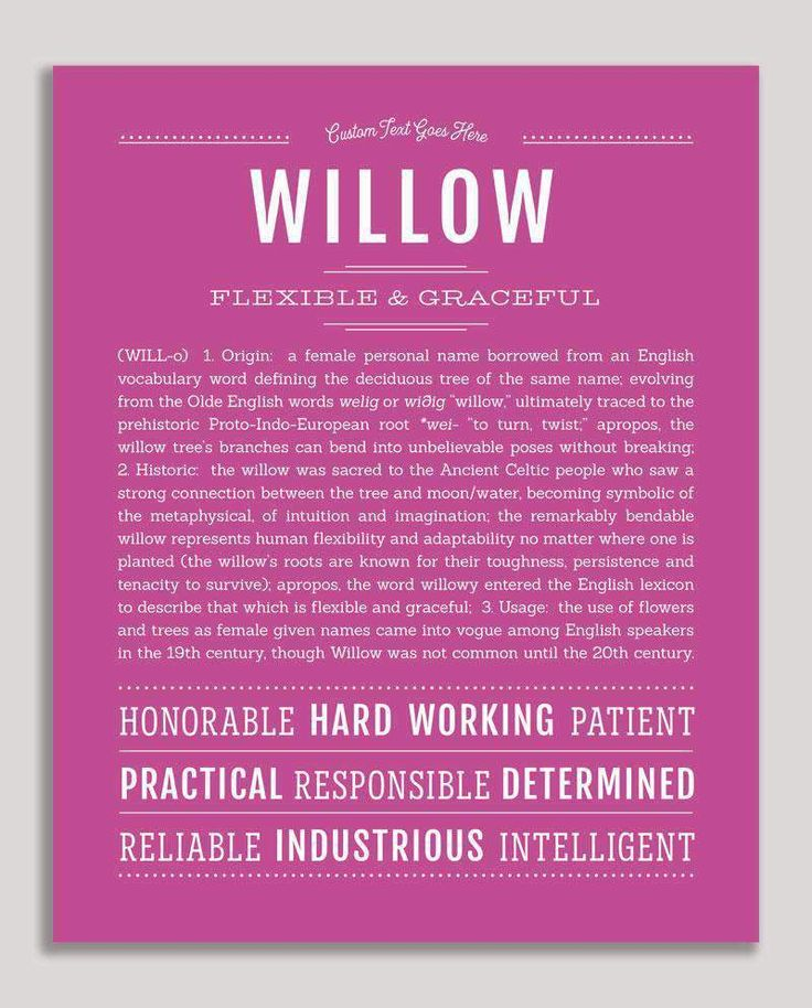 Willow | Classic Name Print (With images) | Classic names ...
