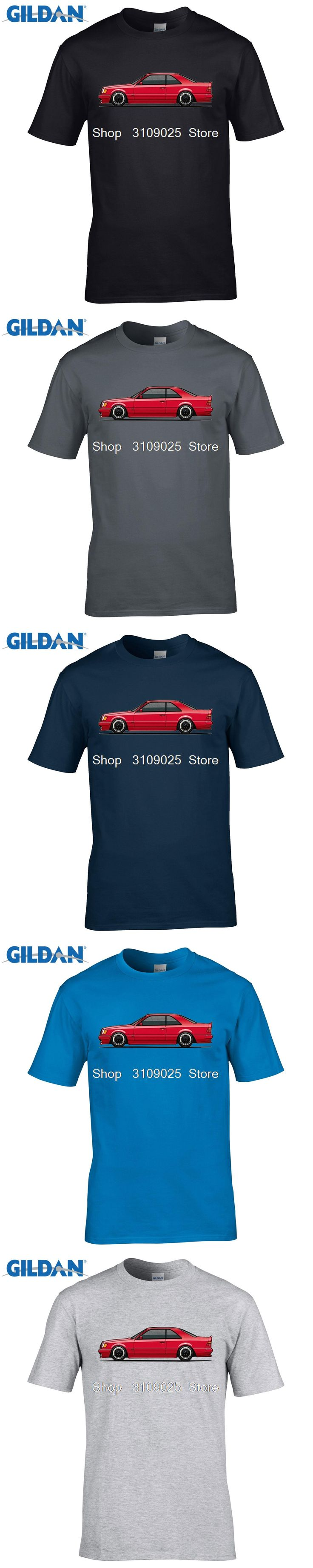 GILDAN customised t-shirts Mercedes 300CE W124 AMG Man T Shirt O Neck Tshirt Boy Teeshirt 2017 Funny T-shirt For Guy